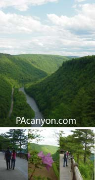 The PA Grand Canyon has many natural wonders and 
