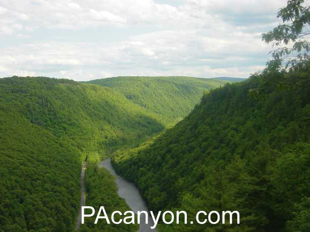 Scenic views of the PA Grand Canyon
